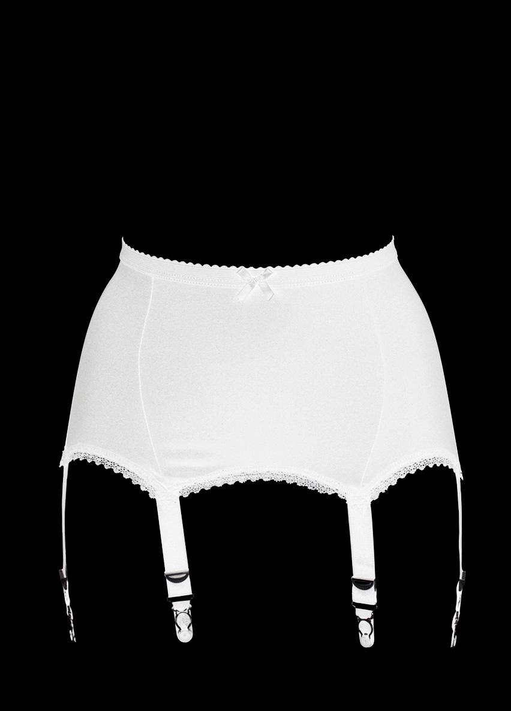 Porte jarretelles blanc l avec 6 attaches style vintage for Porte jarretelle 8 attaches
